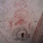 Kalkmaleri ved alter